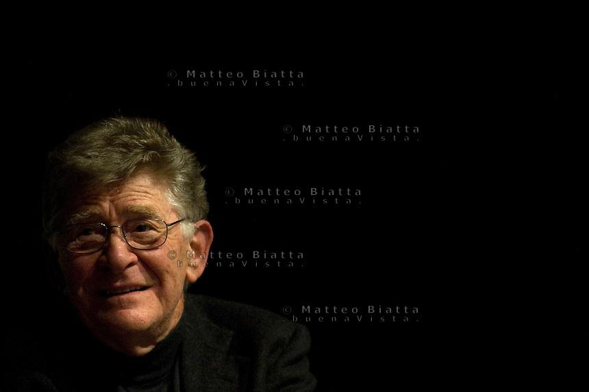 ERMANNO OLMI IN THE PICTURE THE ITALIAN FILM DIRECTOR ERMANNO OLMI BRESCIA 23/11/2011 PHOTO MATTEO BIATTA