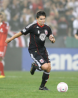 Jaime Moreno #99 of D.C. United during an MLS match against Toronto FC that was the final appearance of D.C. United's Jaime Moreno at RFK Stadium, in Washington D.C. on October 23, 2010. Toronto won 3-2.
