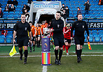 Referee collects the match ball during the The FA Women's Championship match at the Proact Stadium, Chesterfield. Picture date: 8th December 2019. Picture credit should read: Simon Bellis/Sportimage