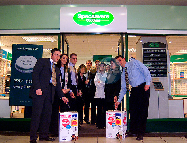 Specsavers in The Drogheda Town Centre With A Wanted Box...Pic Tony Campbell/Newsfile