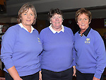 Liz Halpenny, Catherine Whatley and Sheila Roche welcoming the new lady captain at Ardee Golf Club. Photo:Colin Bell/pressphotos.ie