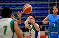 Action from the National Under-23 Basketball Championships Tournament men's match between Waitakere West B and Waikato Country Green at Te Rauparaha Arena in Porirua, New Zealand on Friday, 9 August 2019. Photo: Dave Lintott / lintottphoto.co.nz