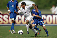Jose Perez (11) of the USA is chased by Riley Wolfe (7) of the Academy select Team. The US U-17 Men's National Team defeated the Development Academy Select Team 3-1 during day one of the US Soccer Development Academy  Spring Showcase in Sarasota, FL, on May 22, 2009.