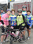 Drogheda Wheelers members Larissa Quinn Healy, Angela Gargan,Stella Hickey, Sandra Fay and Jackie Crinion  who took part in the Kevin King Memorial Cycle in aid of St John's Ambulance Brigade and Drogheda and District Support 4 Older People. Photo:Colin Bell/pressphotos.ie