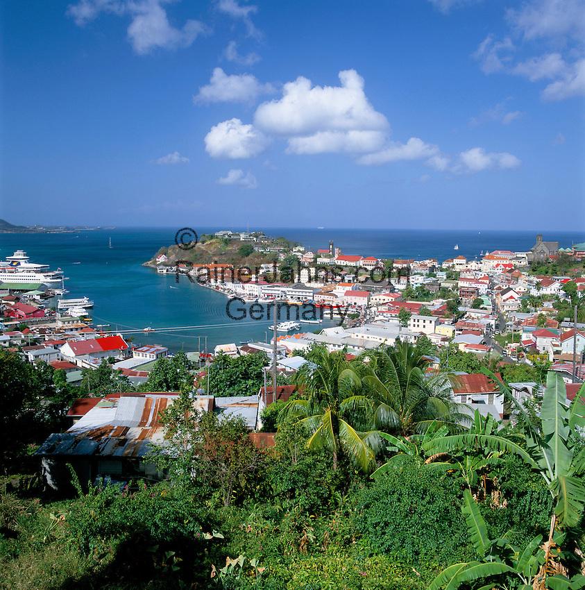Karibik, Kleine Antillen, Grenada, St. Georges: Stadtansicht | Caribbean, Lesser Antilles, Grenada, St. Georges: view over town