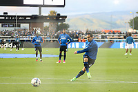 San Jose, CA - Saturday April 08, 2017: Marco Ureña  prior to a Major League Soccer (MLS) match between the San Jose Earthquakes and the Seattle Sounders FC at Avaya Stadium.