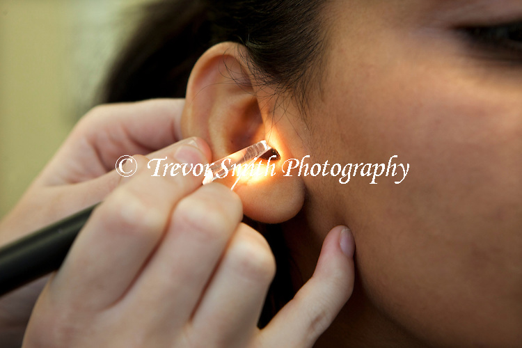 Hospital Audiology Department preparing a new Hearing Aid