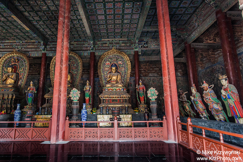 Interior View of the Mahavira Hall, Huayan Monastery, Datong, China