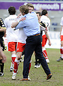 10/04/2010   Copyright  Pic : James Stewart.sct_jsp21_falkirk_v_st_mirren  .::  FALKIRK MANAGER STEVEN PRESSLEY AND DARREN BARR AT THE END OF THE GAME ::  .James Stewart Photography 19 Carronlea Drive, Falkirk. FK2 8DN      Vat Reg No. 607 6932 25.Telephone      : +44 (0)1324 570291 .Mobile              : +44 (0)7721 416997.E-mail  :  jim@jspa.co.uk.If you require further information then contact Jim Stewart on any of the numbers above.........
