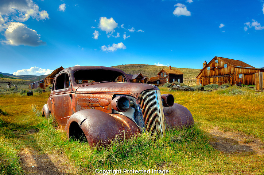 Abandoned Car Bodie Ghost Town, california