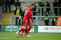 O's Macauley Bonne celebrates after scoring the opening goal during AFC Fylde vs Leyton Orient, Vanarama National League Football at Mill Farm on 3rd November 2018