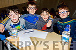 Scoil Mhuire NS Kilorglin taking part in the Cara Credit Union School Quiz in the I T Tralee on Sunday. l to r: Sean Griffin, Darren O'Sullivan, Daniel Kelly and Eoin Henken.