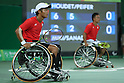 Takashi Sanada &amp; Takuya Miki (JPN),<br /> SEPTEMBER 13, 2016 - Wheelchair Tennis : <br /> Men's Doubles Semi-Final<br /> at Olympic Tennis Centre<br /> during the Rio 2016 Paralympic Games in Rio de Janeiro, Brazil.<br /> (Photo by Shingo Ito/AFLO)