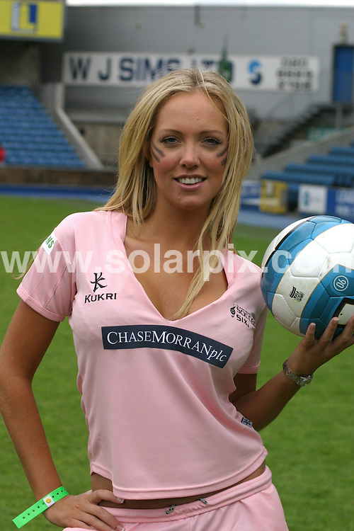 **ALL ROUND PICTURES FROM SOLARPIX.COM**.**WORLDWIDE SYNDICATION RIGHTS**.celebrities playing at the Soccer Six charity football match in London, UK. 18th May 2008..This pic: Aisleyne Horgan Wallace..JOB REF: 6439 NYA     DATE: 18_05_2008.**MUST CREDIT SOLARPIX.COM OR DOUBLE FEE WILL BE CHARGED* *UNDER NO CIRCUMSTANCES IS THIS IMAGE TO BE REPRODUCED FOR ANY ONLINE EDITION WITHOUT PRIOR PERMISSION*