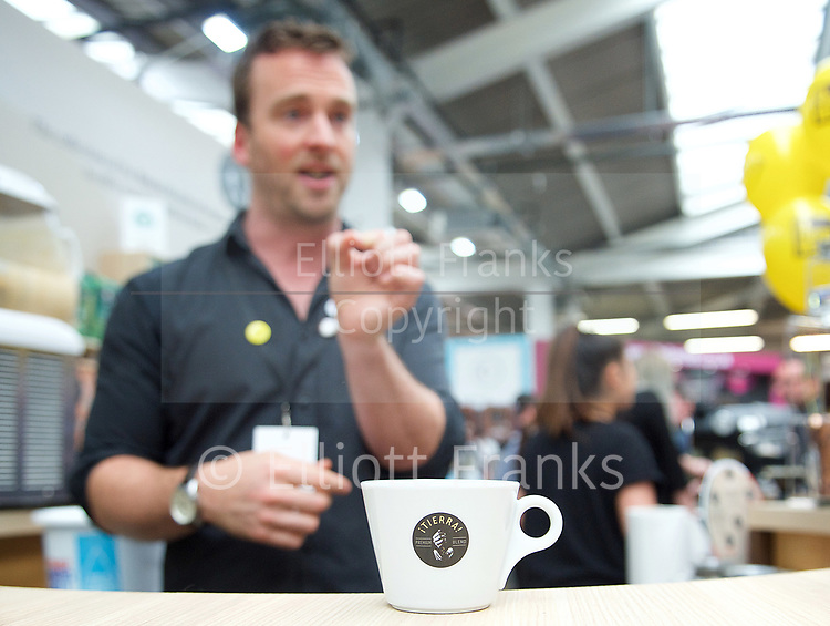 The London Coffee Festival <br /> Truman Brewery, Brick Lane, London, Great Britain <br /> 7th April 2017 <br /> <br /> <br /> <br /> <br /> <br /> Photograph by Elliott Franks <br /> Image licensed to Elliott Franks Photography Services