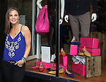 One Life To Live and Guiding Light's Gina Tognoni shows her new line of shoes - the Sole9 Warrior Collection on October 5, 2013 at State Boutique, Hoboken, New Jersey. A portion of proceeds goes directly to the National Coalition Against Domestic Violence. (Photo by Sue Coflin/Max Photos)