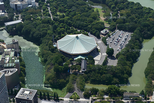 Nippon Budokan: Tokyo, Japan: Aerial view of proposed venue for the 2020 Summer Olympic Games. (Photo by AFLO)