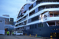 Le Laperouse cruise ship. CentrePort in Wellington, New Zealand on Wednesday, 18 March 2020. Photo: Dave Lintott / lintottphoto.co.nz