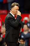 Louis Van Gaal, manager of Manchester United dejected at full time during the Emirates FA Cup match at Old Trafford. Photo credit should read: Philip Oldham/Sportimage
