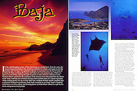 "DIVE TRAVEL Magazine Article - ""BAJA"" on diving Mexico's Baja - All Photos by Dale Sanders."