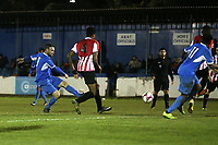 Martin Tuohy of Redbridge scores the second goal for his team during Redbridge vs Clapton, Essex Senior League Football at Oakside Stadium on 14th November 2017