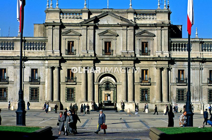 Palácio de La Moneda sede do governo chileno. Chile. 1999. Foto de Rogério Reis.
