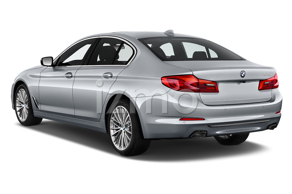 Car pictures of rear three quarter view of a 2019 BMW 5 Series 540i Sport Line 4 Door Sedan angular rear