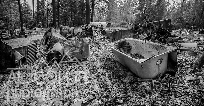 September 8, 1987 Yosemite National Park, California – Stanislaus Complex Fire -- On Smith Station Road, Mr. Williams' house was a total loss. The Stanislaus Complex Fire consumed 28 structures and 145,980 acres.  One US Forest Service firefighter, David Ross Erickson, died from a tree-felling accident.