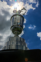The Claret Jug on display during the Pro-Am at the Dubai Duty Free Irish Open, Lahinch Golf Club, Lahinch, Co. Clare, Ireland. 03/07/2019<br /> Picture: Golffile | Fran Caffrey<br /> <br /> <br /> All photo usage must carry mandatory copyright credit (© Golffile | Fran Caffrey)
