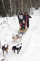 Rick Swenson w/Iditarider on Trail 2005 Iditarod Ceremonial Start near Campbell Airstrip Alaska SC