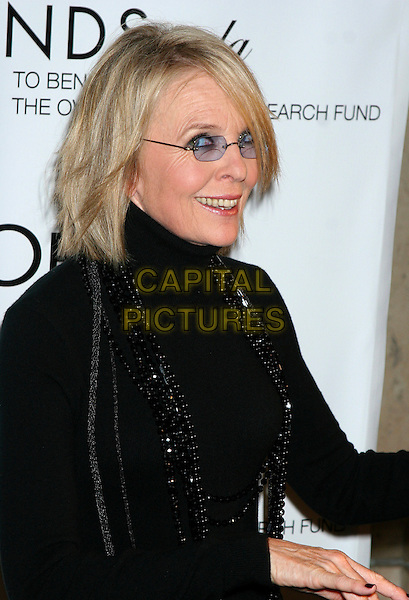 DIANE KEATON.The L'Oreal Legends Gala Benefit For Ovarian Cancer Research Fund at the American Museum of Natural History, New York, NY, USA..November 8th, 2006.Ref: IW.half length tinted glasses black top poloneck.www.capitalpictures.com.sales@capitalpictures.com.©Ian Wilson/Capital Pictures