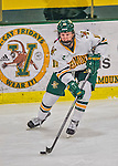 1 February 2015: University of Vermont Catamount Forward Mackenzie MacNeil, a Freshman from Richmond Hill, Ontario, in third period action against the visiting Providence College Friars at Gutterson Fieldhouse in Burlington, Vermont. The Lady Cats defeated the Friars 7-3 in Hockey East play. Mandatory Credit: Ed Wolfstein Photo *** RAW (NEF) Image File Available ***