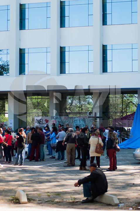 SÃO PAULO - SP - 06,08,2014 - USP- ACAMPAMENTO NA REITORIA - Funcionários e alunos em Greve estão acampados em frente à Reitoria da Usp (Universidade de São Paulo) A Reitoria fica na Avenida Luciano Gualberto,Travessa J no Campus da Cidade Universtária na região oeste da cidade de São Paulo,nessa Quarta-Feira,06 (Foto:Kevin David/Brazil Photo Press)