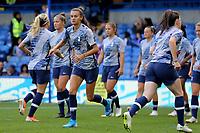 Tottenham Women warm up ahead of kick-off during Chelsea Women vs Tottenham Hotspur Women, Barclays FA Women's Super League Football at Stamford Bridge on 8th September 2019