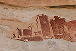 The Temple Mountain pictograph panel, on  the San Rafael Swell in Utah, is an example of Barrier Canyon-style rock art and was painted by the Archaic Culture between 1,500 and 4,000 years ago.