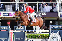 USA-Lauren Hough rides Ohala during the Longines FEI Nations Cup Jumping Final - First Qualifier. 2017 ESP-Longines FEI Nations Cup Jumping Final - CSIO Barcelona. Real Club de Polo de Barcelona. Thursday 28 September. Copyright Photo: Libby Law Photography