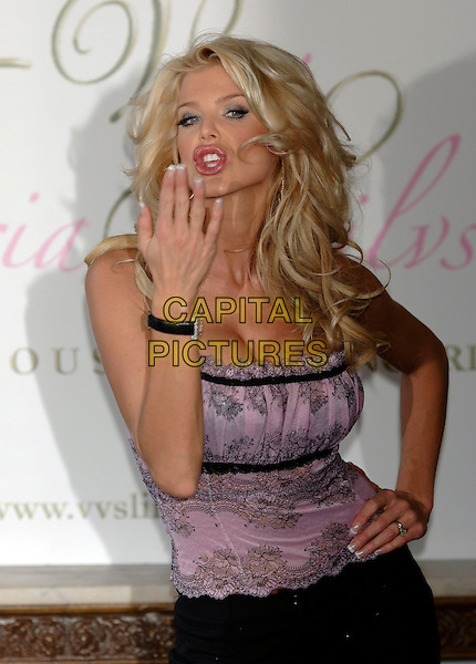 "VICTORIA SILVSTEDT.launches her new lingerie design.""Very victoria silvstedt"" durling London Fashion Week..London, England 17 February 2006.Ref: PL.underwear.www.capitalpictures.com.sales@capitalpictures.com.©Capital Pictures"