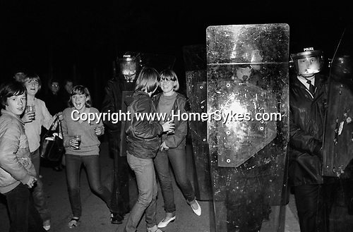 Toxteth Liverpool after riots. July 1981<br /> <br /> Most of these photographs of the 1981 Texteth riots show the police Operational Support Division, 'OSD'. They are identifiable by the black waterproof jackets. The divisional officers wore conventional tunics or overcoats with helmet. The OSD, where a specialist unit then numbering approx 120. Gt Manchester had a similar unit called Tactical Aid Group 'TAG'. Both units trained together with the then Royal Ulster Constabulary 'RUC' and the British army on Burtonwood airbase near Warrington.  Information supplied by former member of the  OSD, Brian J Monaghan.