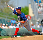 16 March 2009: Washington Nationals' pitcher Jordan Zimmermann on the mound during a Spring Training game against the Florida Marlins at Roger Dean Stadium in Jupiter, Florida. The Nationals defeated the Marlins 3-1 in the Grapefruit League matchup. Mandatory Photo Credit: Ed Wolfstein Photo