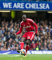 Abdoulaye Doucoure of Watford during the Premier League match between Chelsea and Watford at Stamford Bridge, London, England on 21 October 2017. Photo by Andy Rowland.