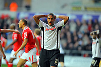 ATTENTION SPORTS PICTURE DESK<br /> Pictured: Ashley Williams of Swansea City in action <br /> Re: Coca Cola Championship, Swansea City Football Club v Nottingham Forest at the Liberty Stadium, Swansea, south Wales. Saturday 12 December 2009