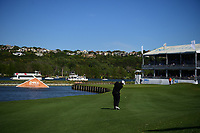 Shane Lowry (IRL) hits his approach shot on 13 during round 2 of the World Golf Championships, Dell Technologies Match Play, Austin Country Club, Austin, Texas, USA. 3/23/2017.<br /> Picture: Golffile | Ken Murray<br /> <br /> <br /> All photo usage must carry mandatory copyright credit (&copy; Golffile | Ken Murray)