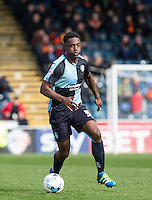 Anthony Stewart of Wycombe Wanderers in action during the Sky Bet League 2 match between Wycombe Wanderers and Barnet at Adams Park, High Wycombe, England on 16 April 2016. Photo by Andy Rowland.