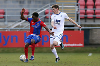 Ben Tollitt of Tranmere Rovers and Fejiri Okenabirhie of Dagenham  during Dagenham & Redbridge vs Tranmere Rovers, Vanarama National League Football at the Chigwell Construction Stadium on 10th March 2018