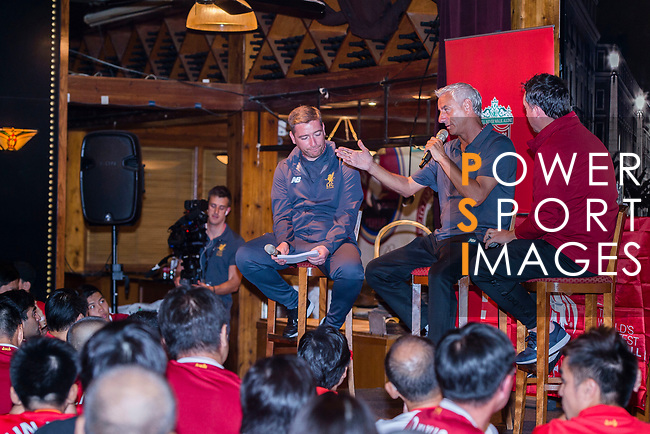 Liverpool Former Players Ian Rush (C) and Robbie Fowler (R) during the Liverpool FC Supporters Club Legends Appearance at Grappa's Cellar-Jardine House on July 17, 2017 in Hong Kong, China. Photo by Marcio Rodrigo Machado / Power Sport Images