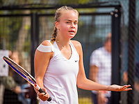 Amstelveen, Netherlands, 1 August 2020, NTC, National Tennis Center, National Tennis Championships,  womens single final: Bente Spee (NED) is frustrated