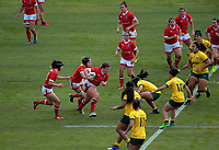 DaLeaka Menin takes the ball up during the 2017 International Women's Rugby Series rugby match between Canada and Australia Wallaroos at Smallbone Park in Rotorua, New Zealand on Saturday, 17 June 2017. Photo: Dave Lintott / lintottphoto.co.nz