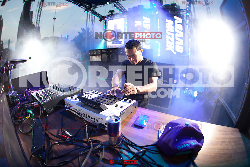 AraabMUZIK performing at the Movement Electronic Music Festival in Detroit, Michigan on May 28, 2012. © Joe Gall / MediaPunch Inc.