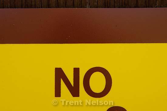 no sign<br />