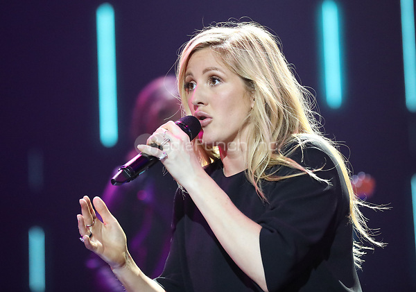 Ellie Goulding sings during the first Global Citizen Festival Concert in Hamburg, Germany, 06 July 2017. The G20 Summit of the heads of government and state takes place on 7 and 8 July 2017 in Hamburg. Photo: Georg Wendt/dpa /MediaPunch ***FOR USA ONLY***